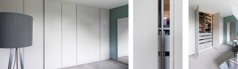 Schlafzimmer Gestaltung einer Hamburger Wohnung