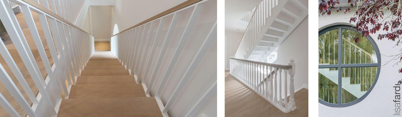Treppen Gestaltung eines Hamburger Einfamilienhauses