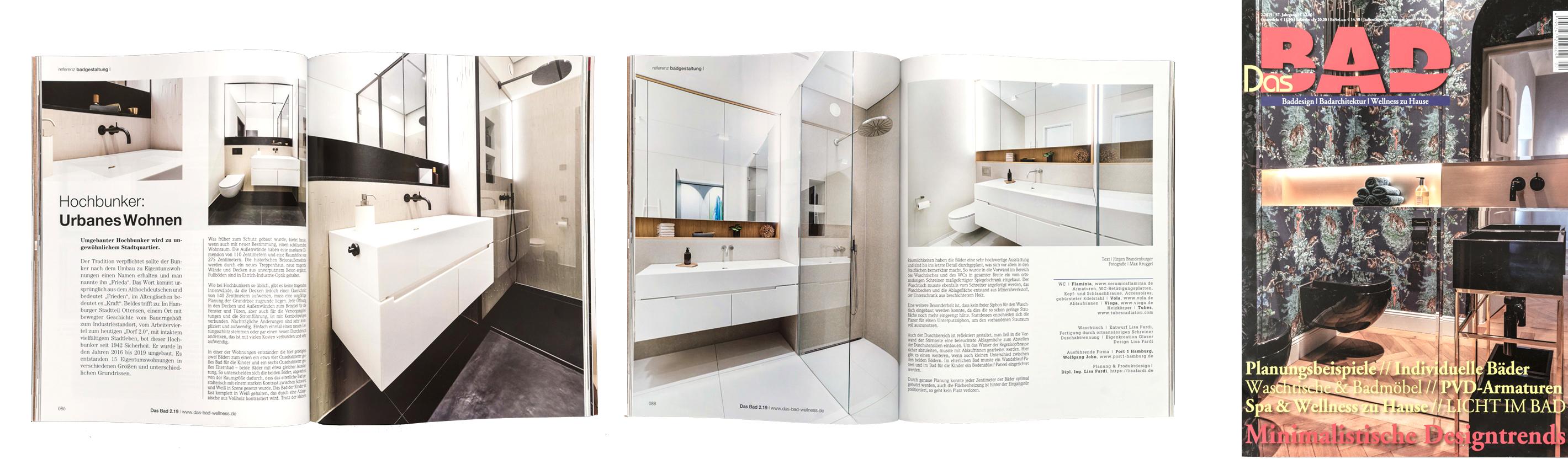 Artikel im Bad Magazin über die Innenarchitektur von Lisa Fardi