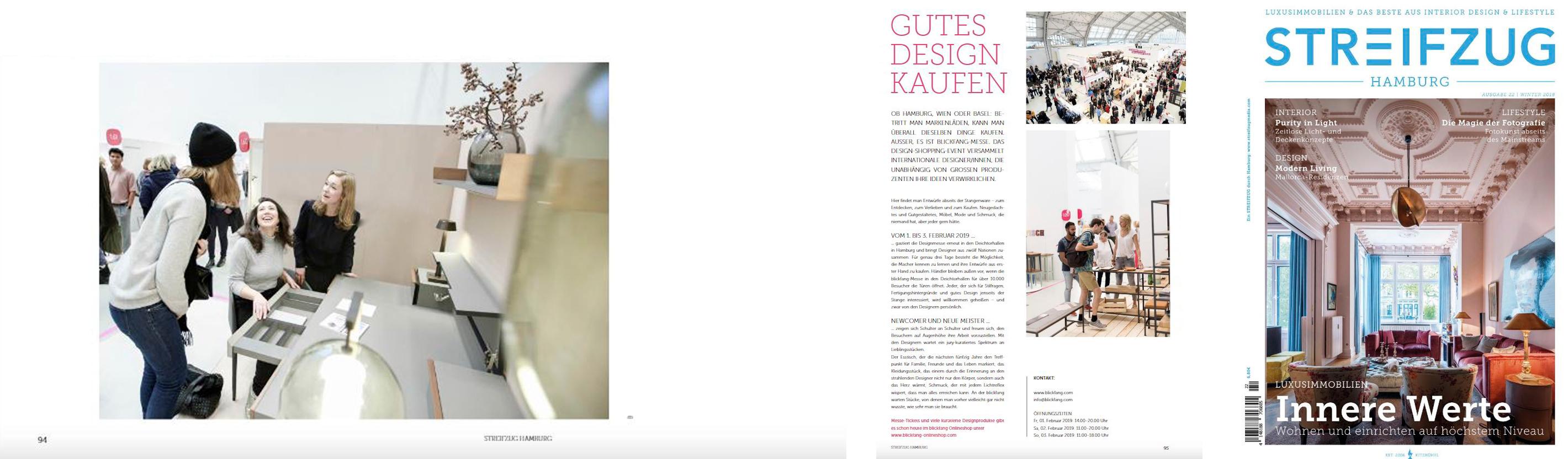 Artikel im Streifzug, Hamburger Magazin, über Möbellabel von Lisa Fardi